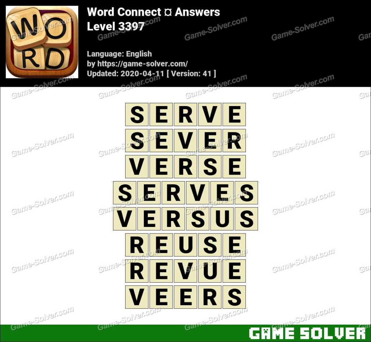 Word Connect Level 3397 Answers