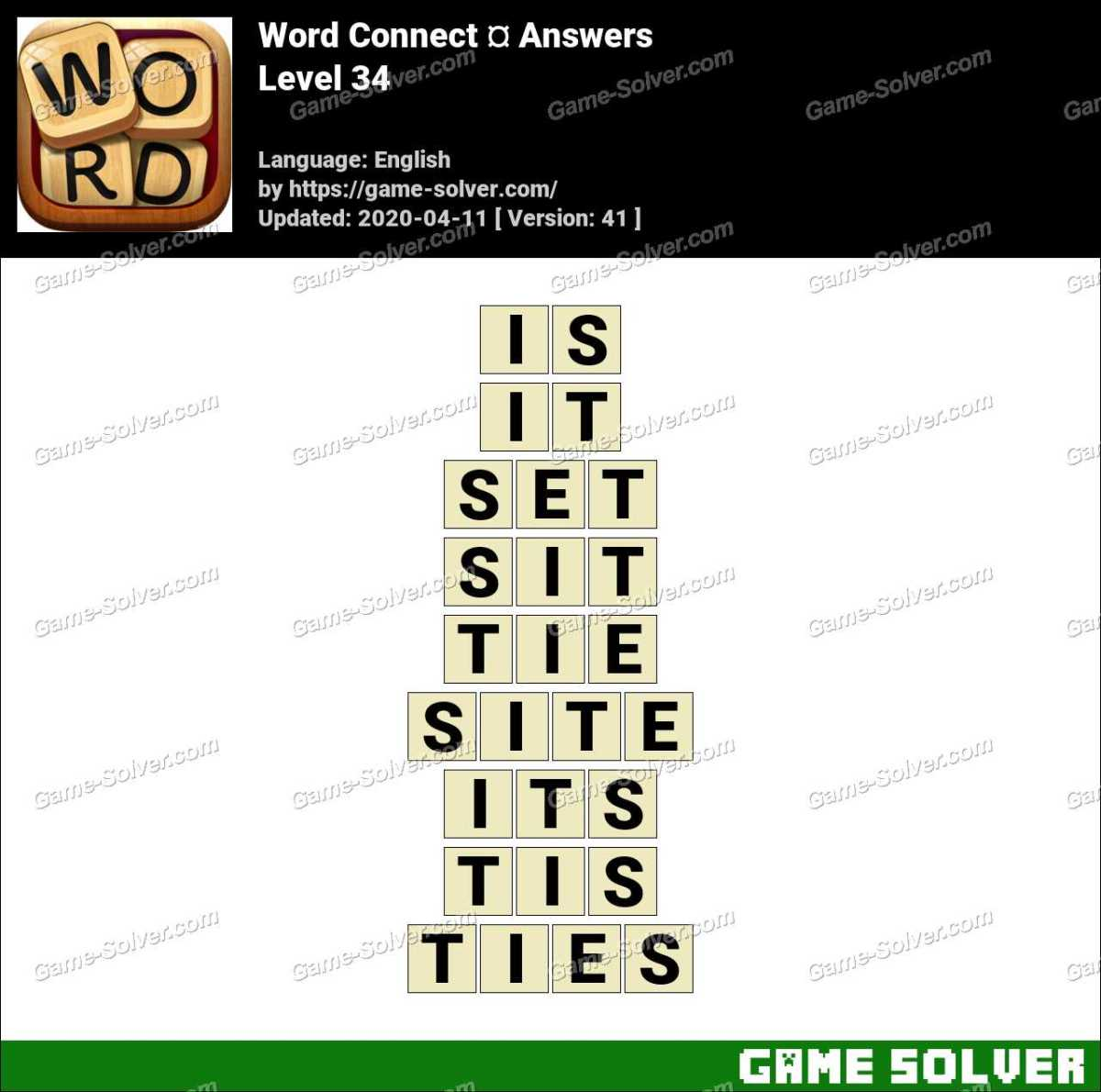 Word Connect Level 34 Answers