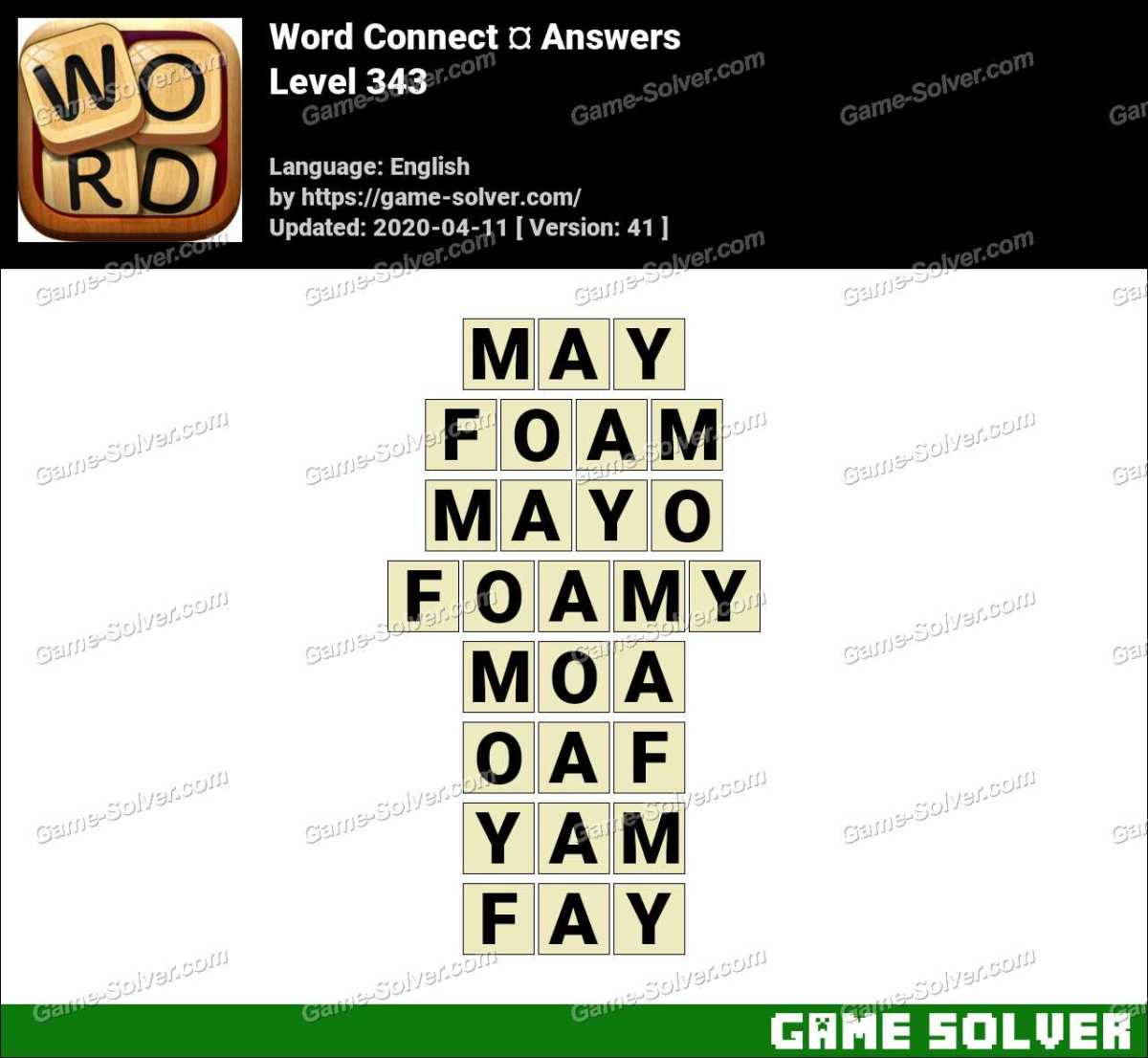 Word Connect Level 343 Answers
