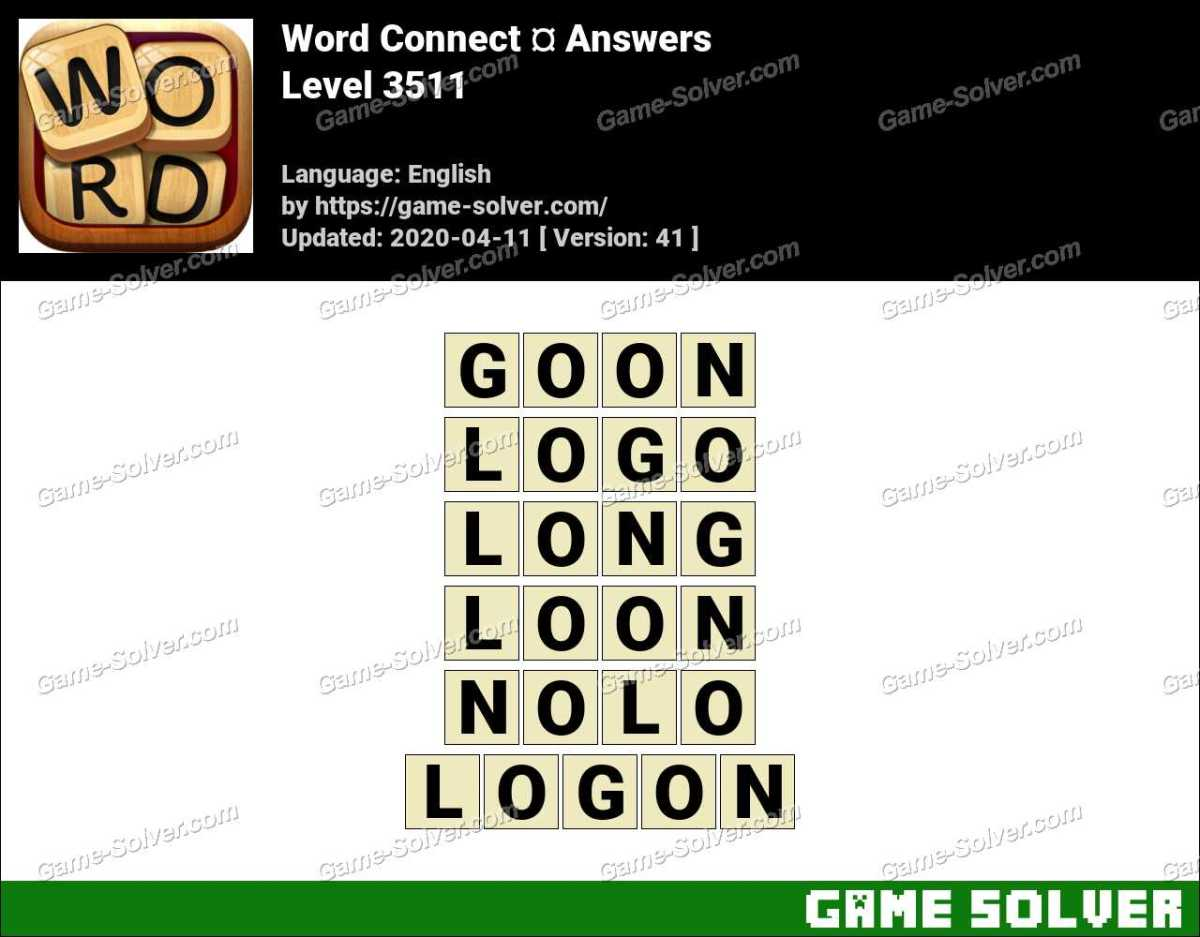 Word Connect Level 3511 Answers