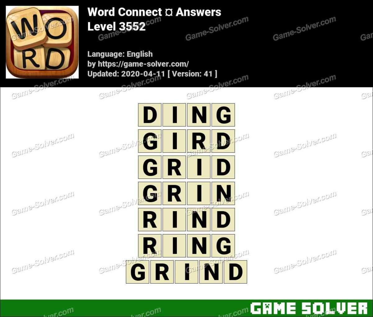 Word Connect Level 3552 Answers