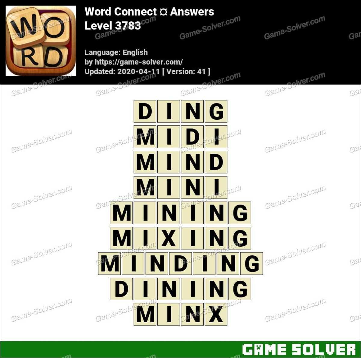 Word Connect Level 3783 Answers