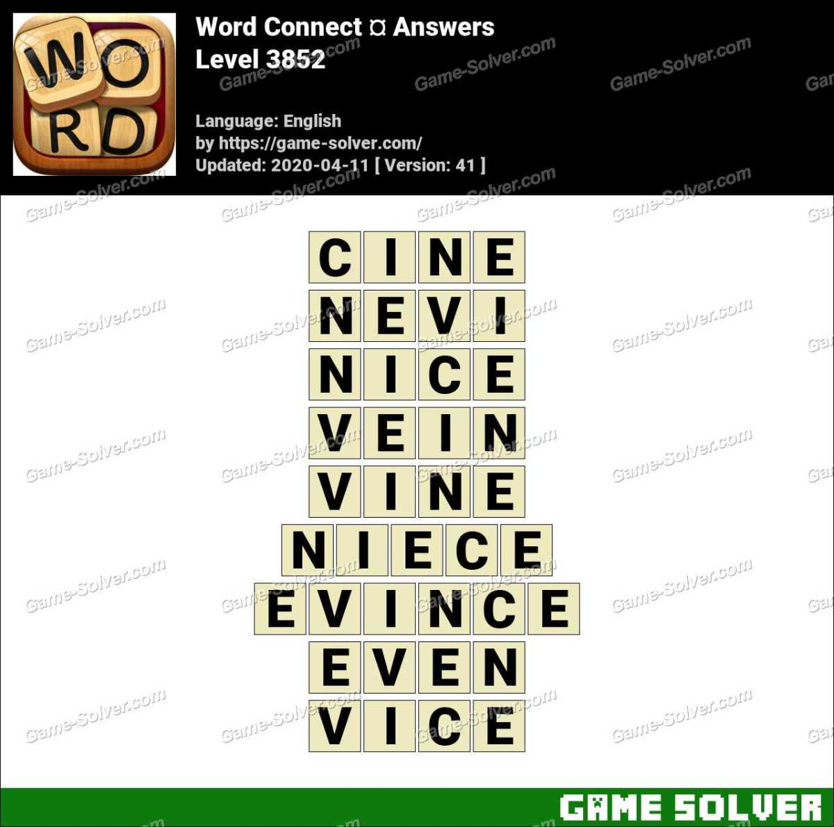 Word Connect Level 3852 Answers