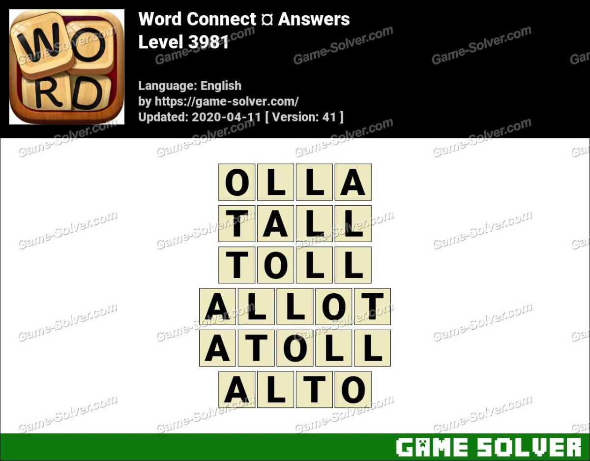 Word Connect Level 3981 Answers