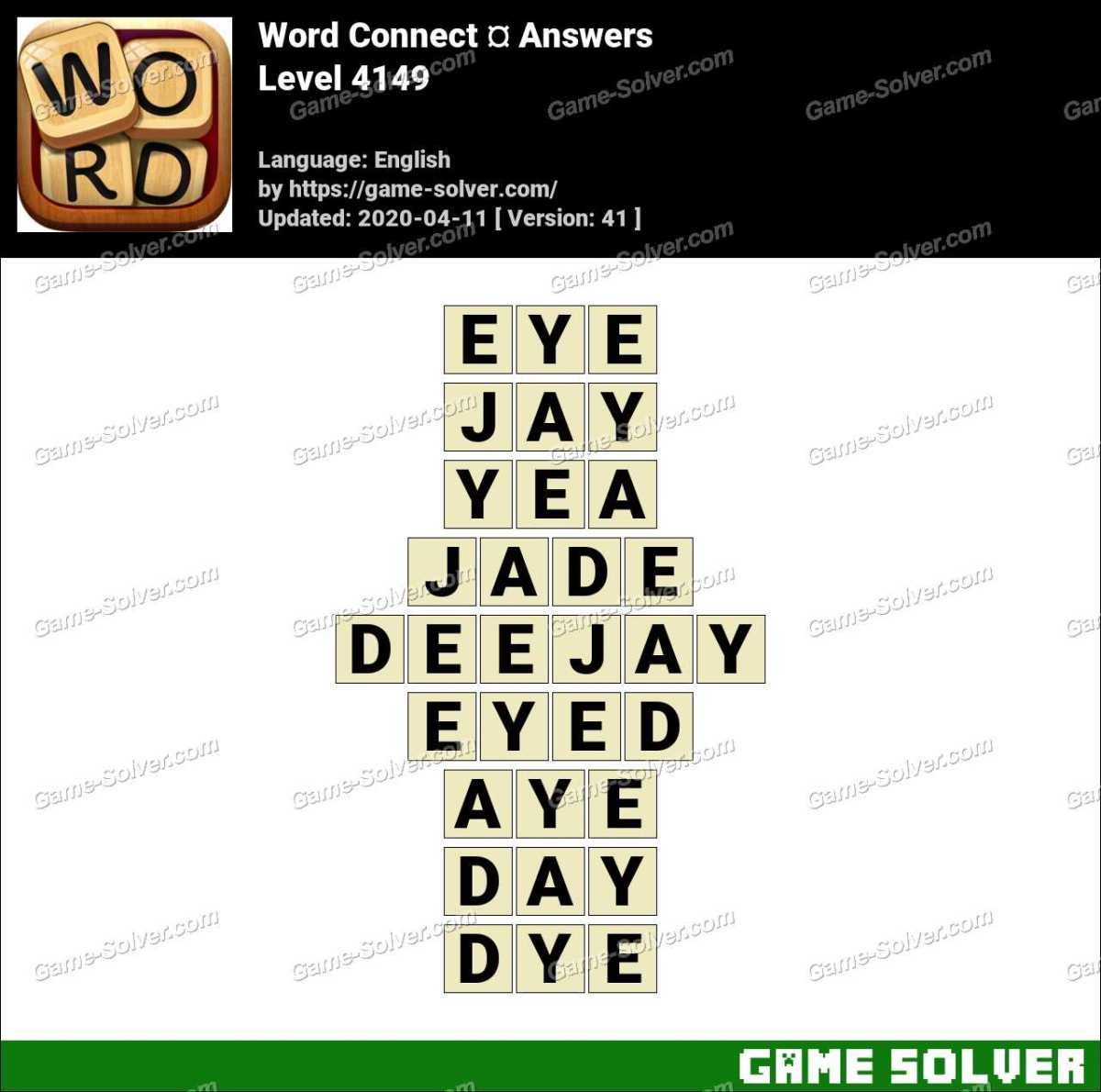 Word Connect Level 4149 Answers
