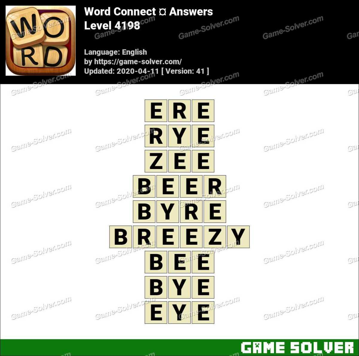 Word Connect Level 4198 Answers