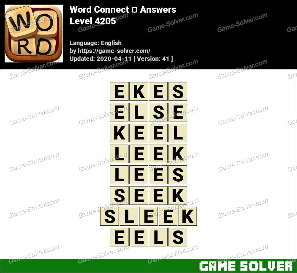Word Connect Level 4205 Answers