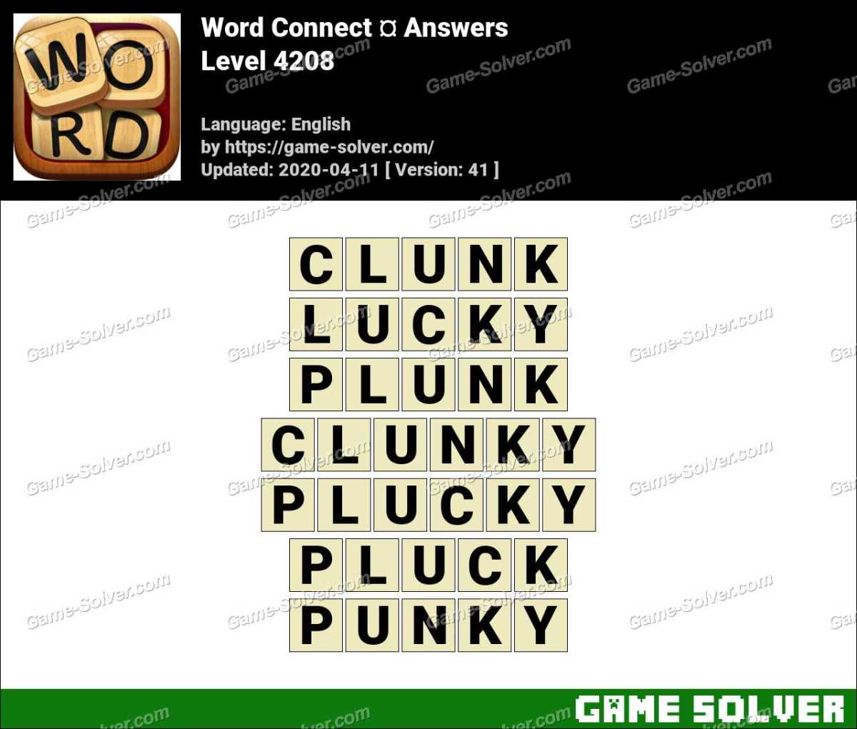Word Connect Level 4208 Answers
