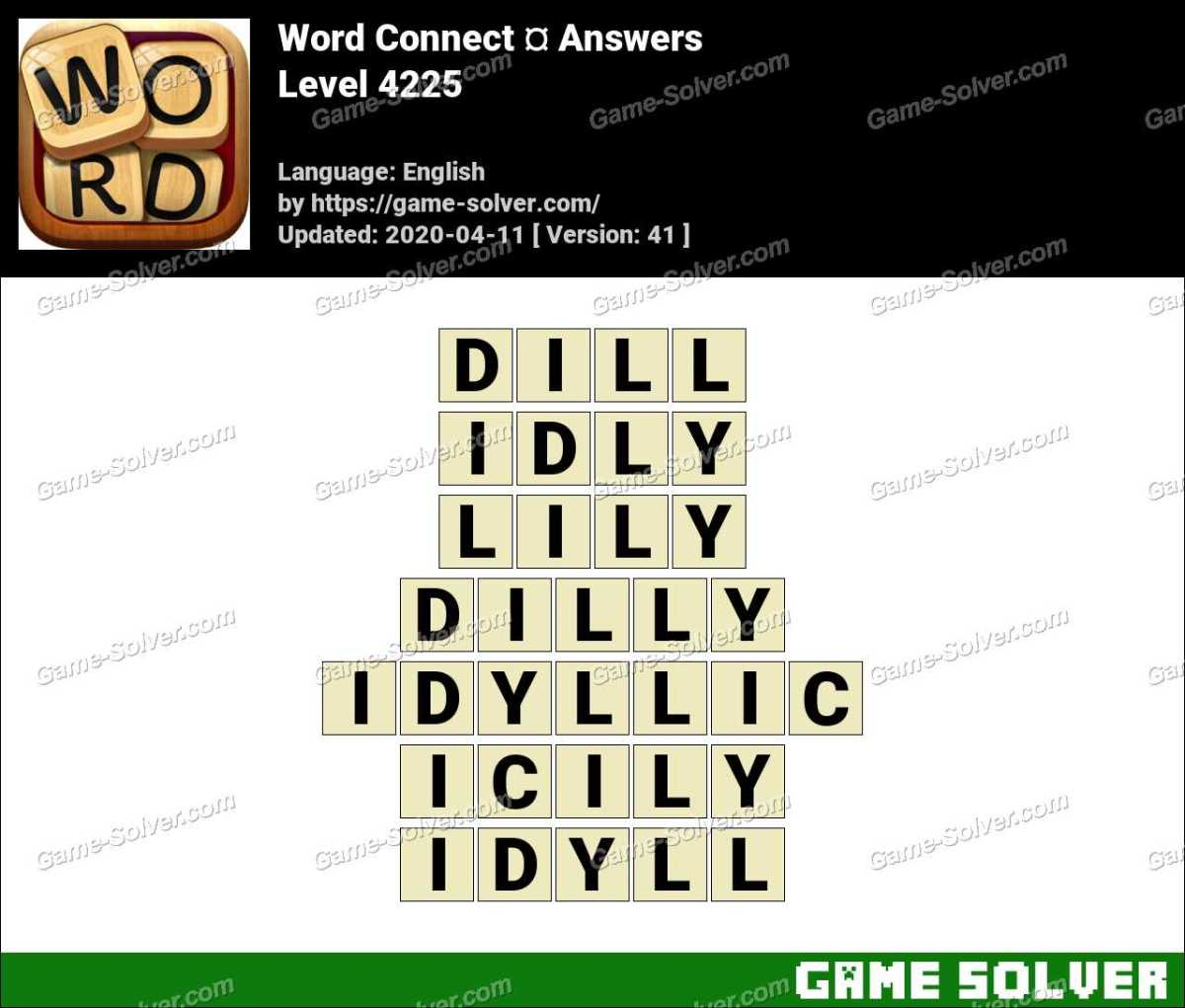 Word Connect Level 4225 Answers