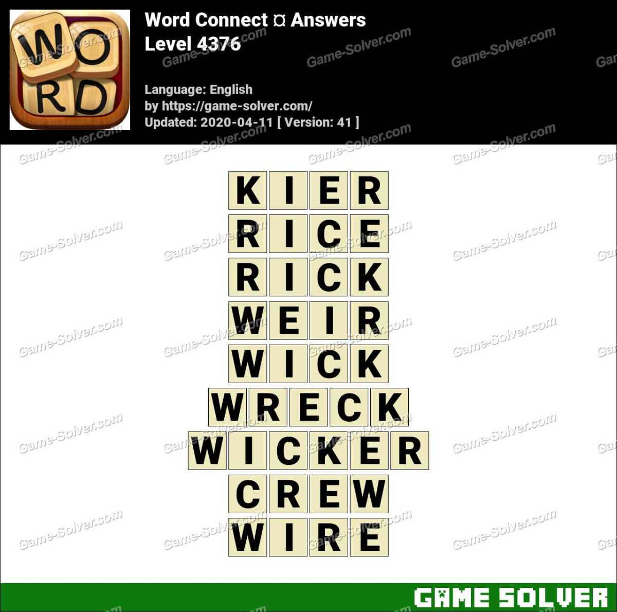 Word Connect Level 4376 Answers