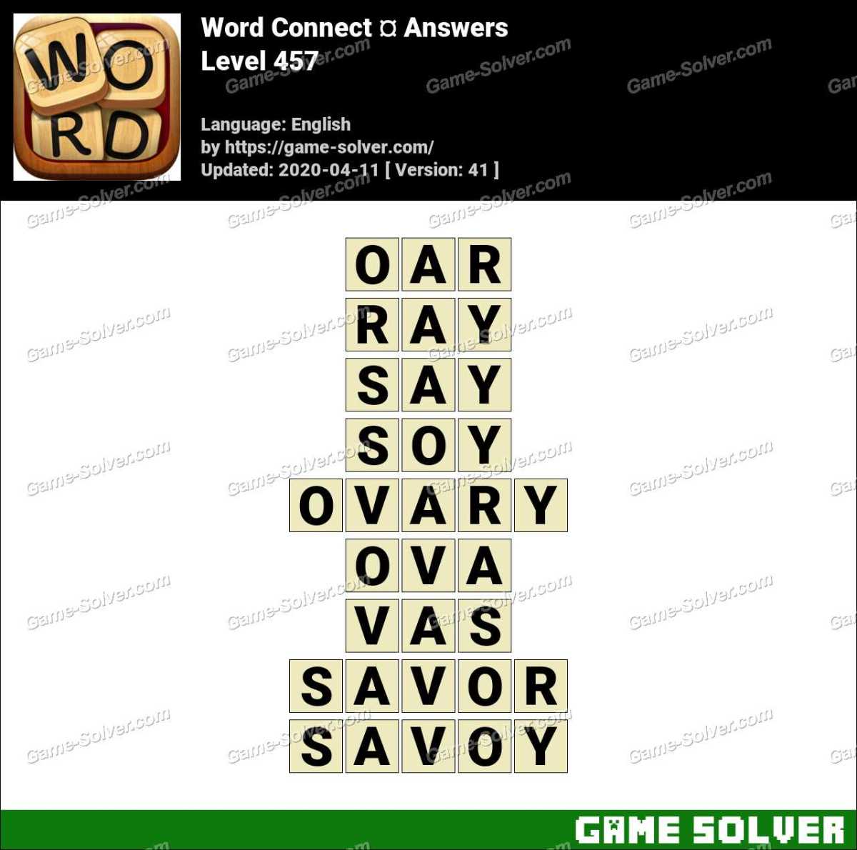 Word Connect Level 457 Answers