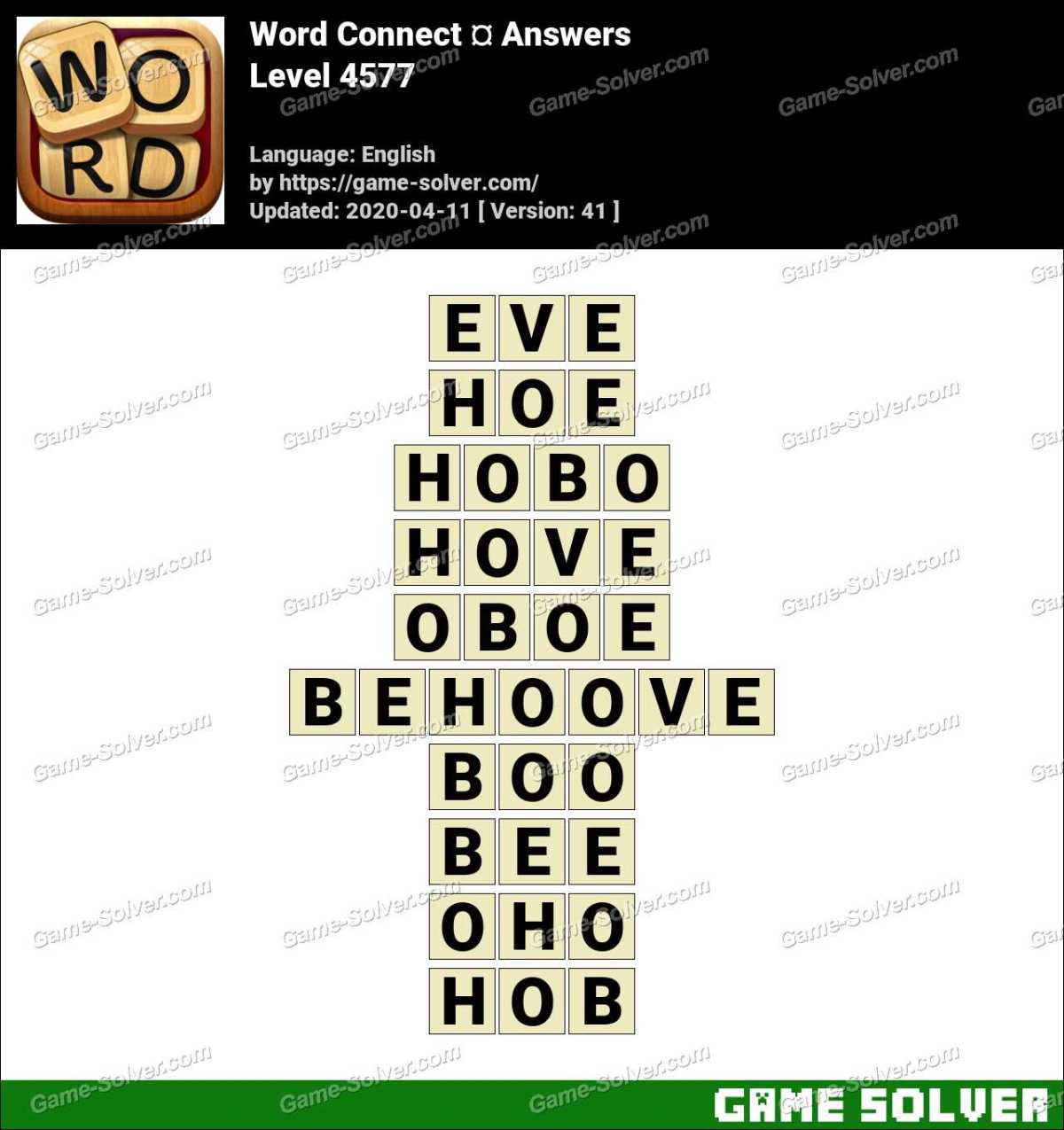 Word Connect Level 4577 Answers
