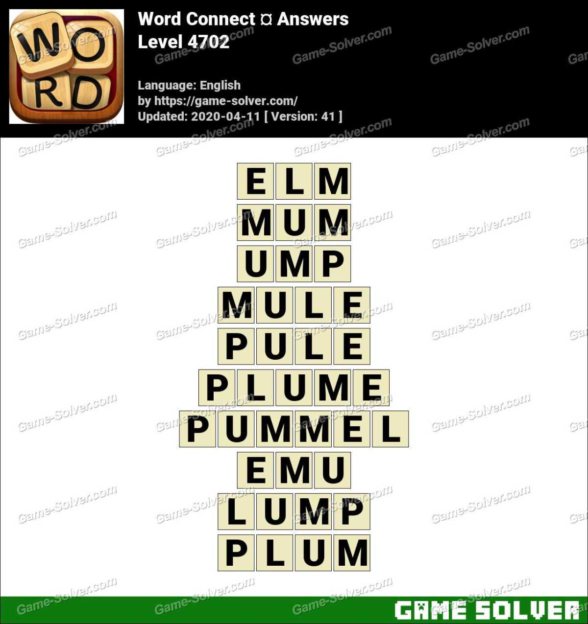 Word Connect Level 4702 Answers