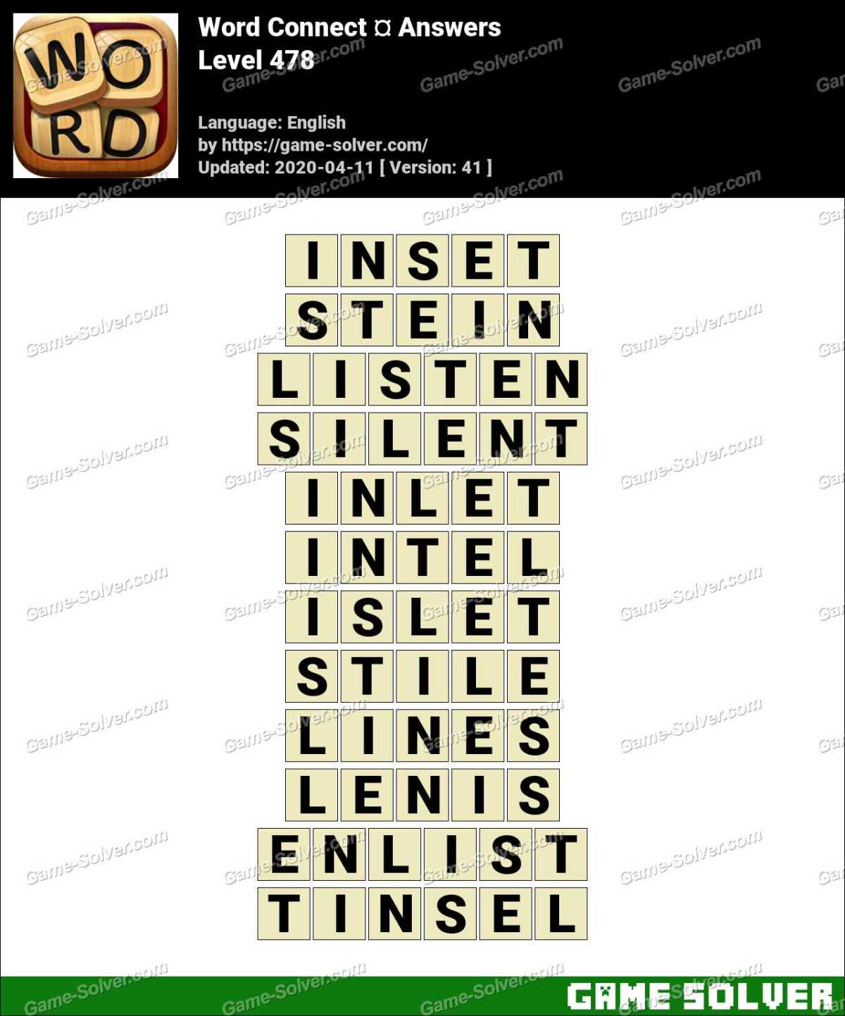 Word Connect Level 478 Answers