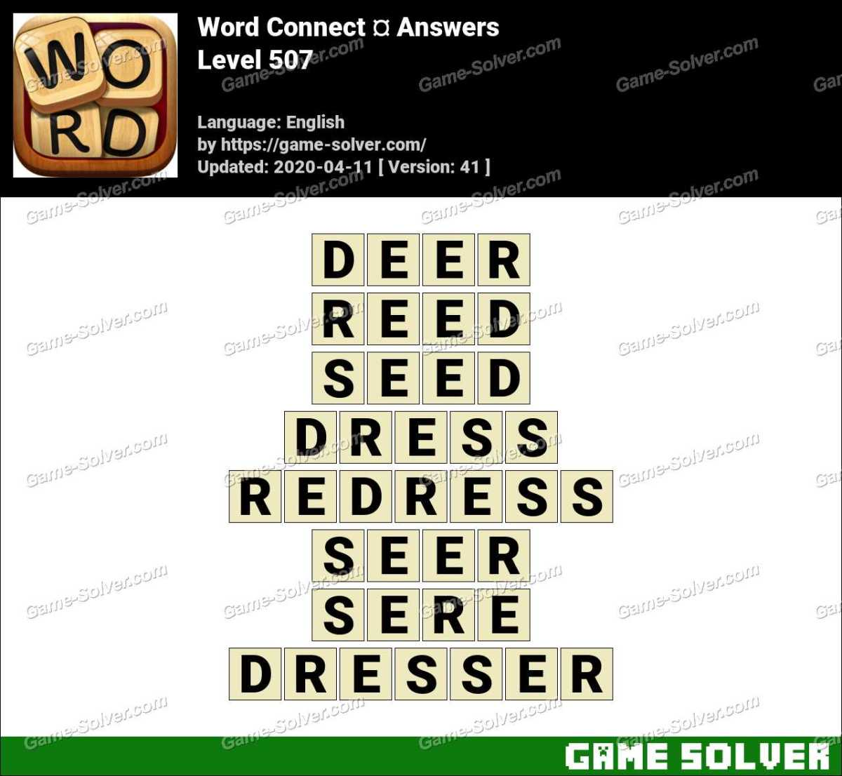 Word Connect Level 507 Answers