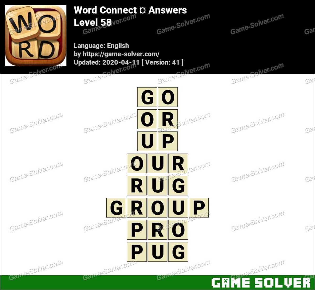 Word Connect Level 58 Answers
