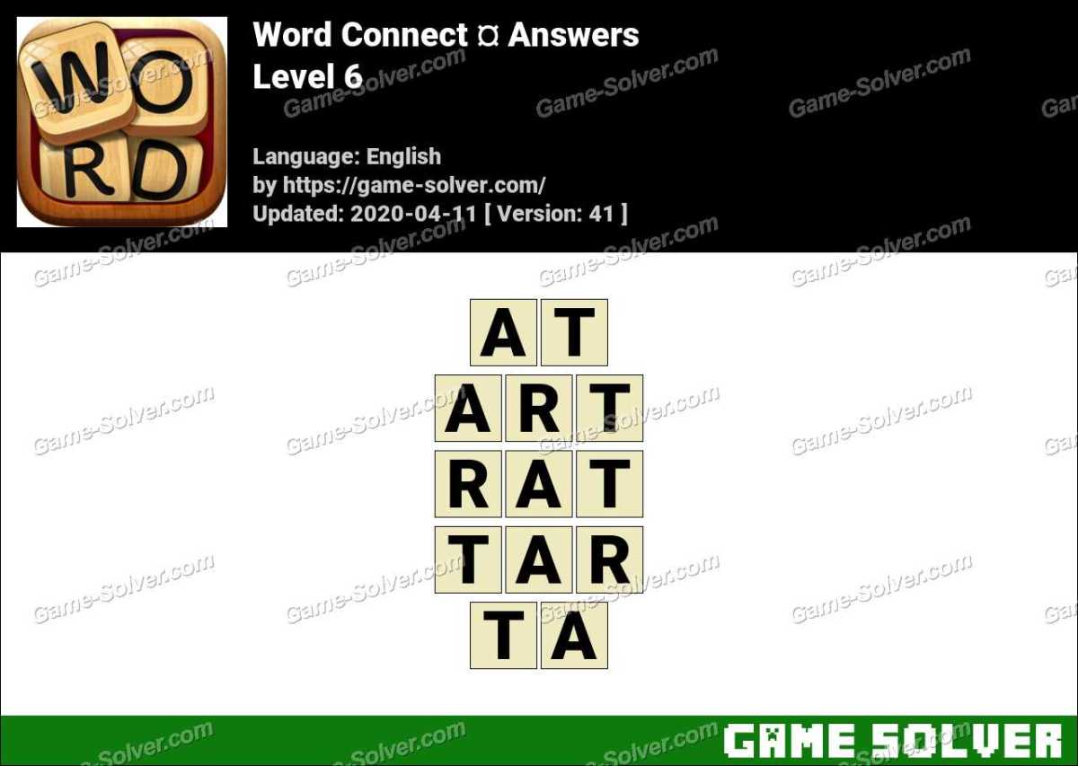 Word Connect Level 6 Answers