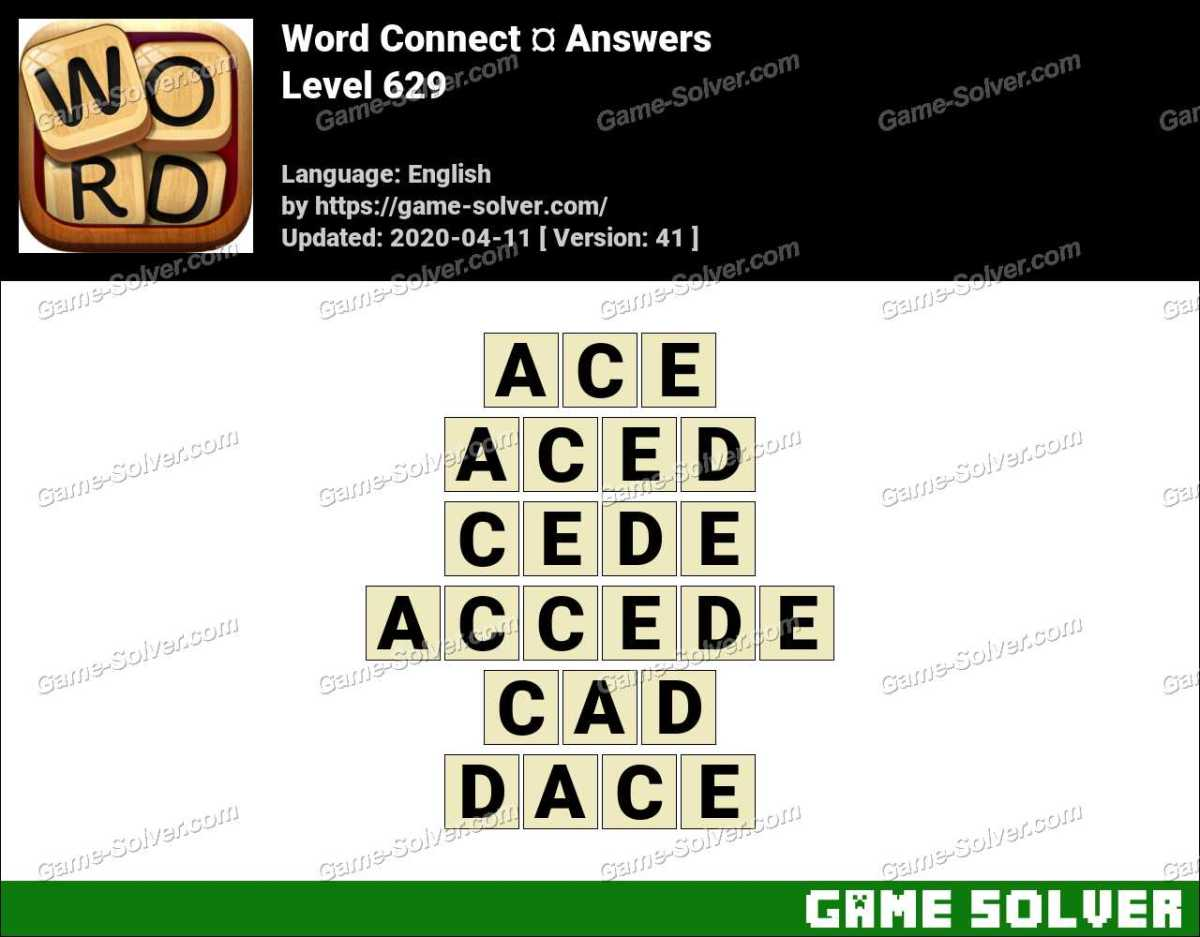 Word Connect Level 629 Answers