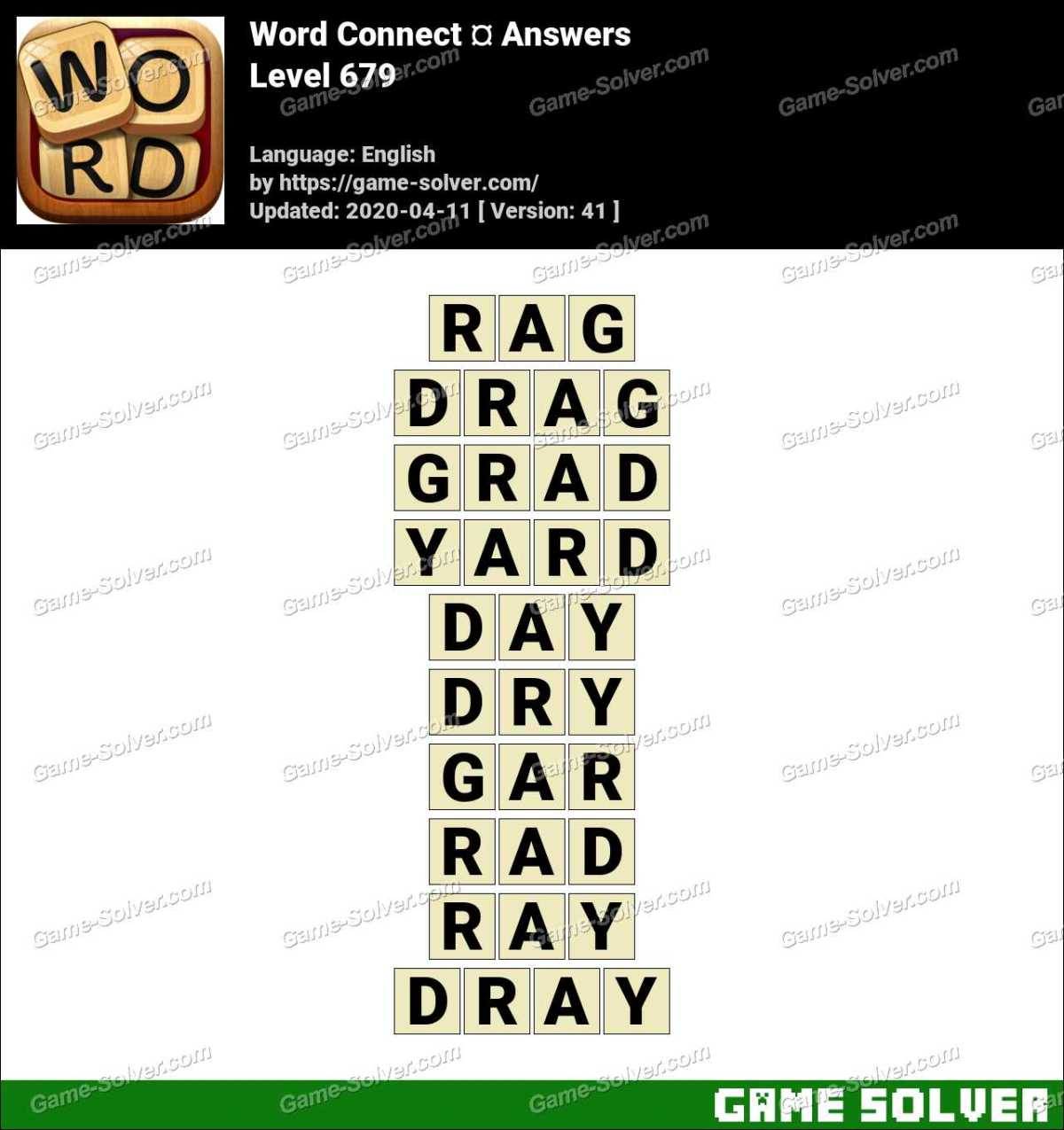 Word Connect Level 679 Answers