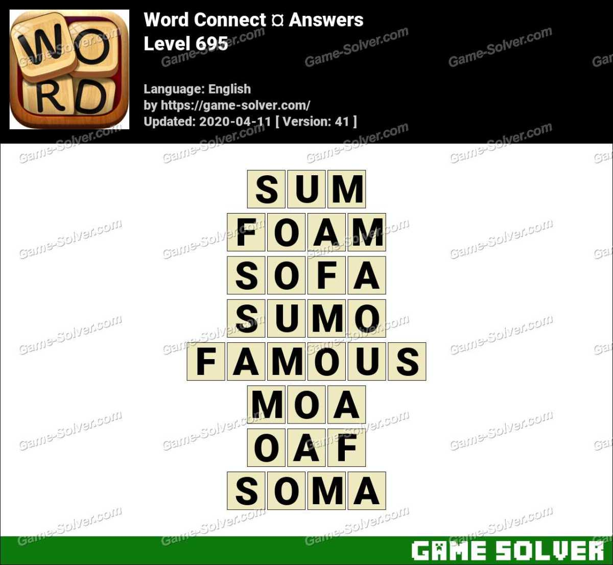 Word Connect Level 695 Answers
