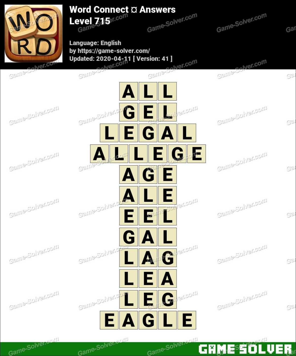 Word Connect Level 715 Answers
