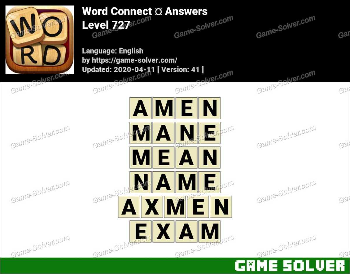 Word Connect Level 727 Answers