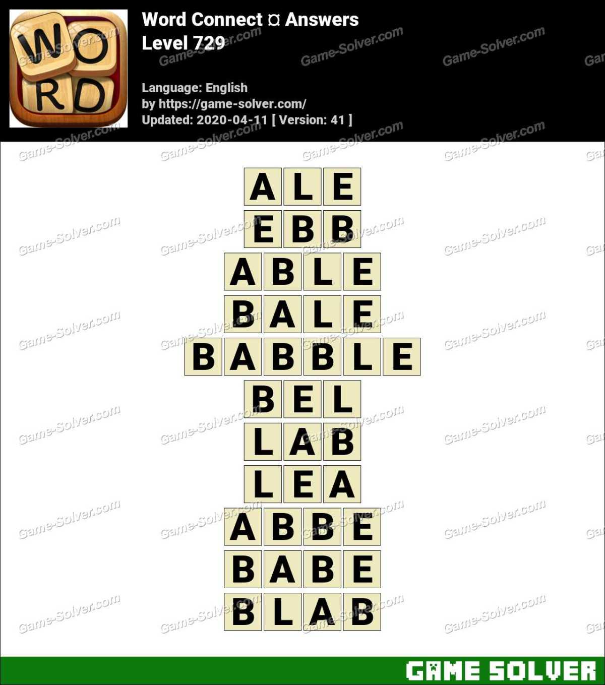 Word Connect Level 729 Answers