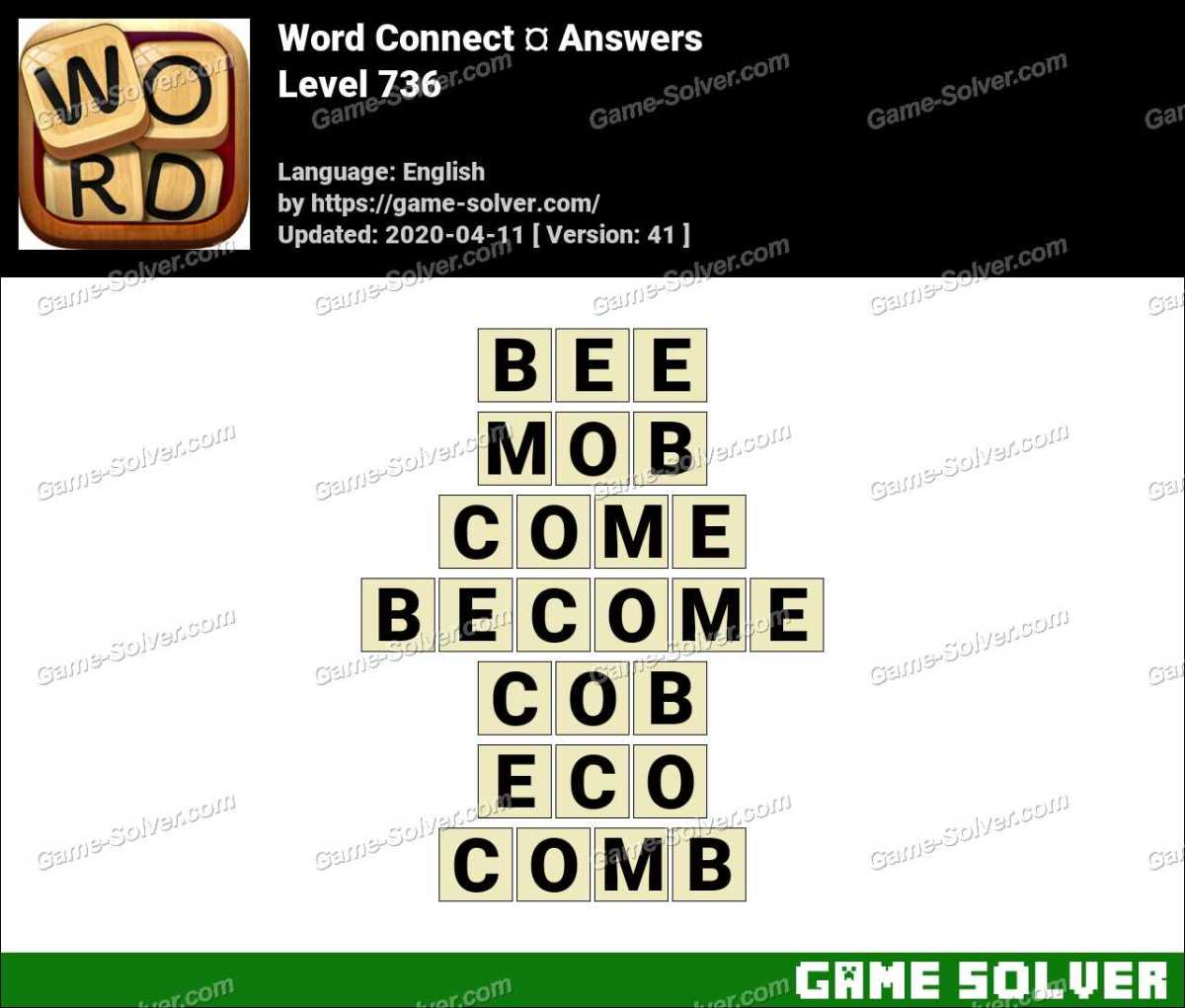 Word Connect Level 736 Answers