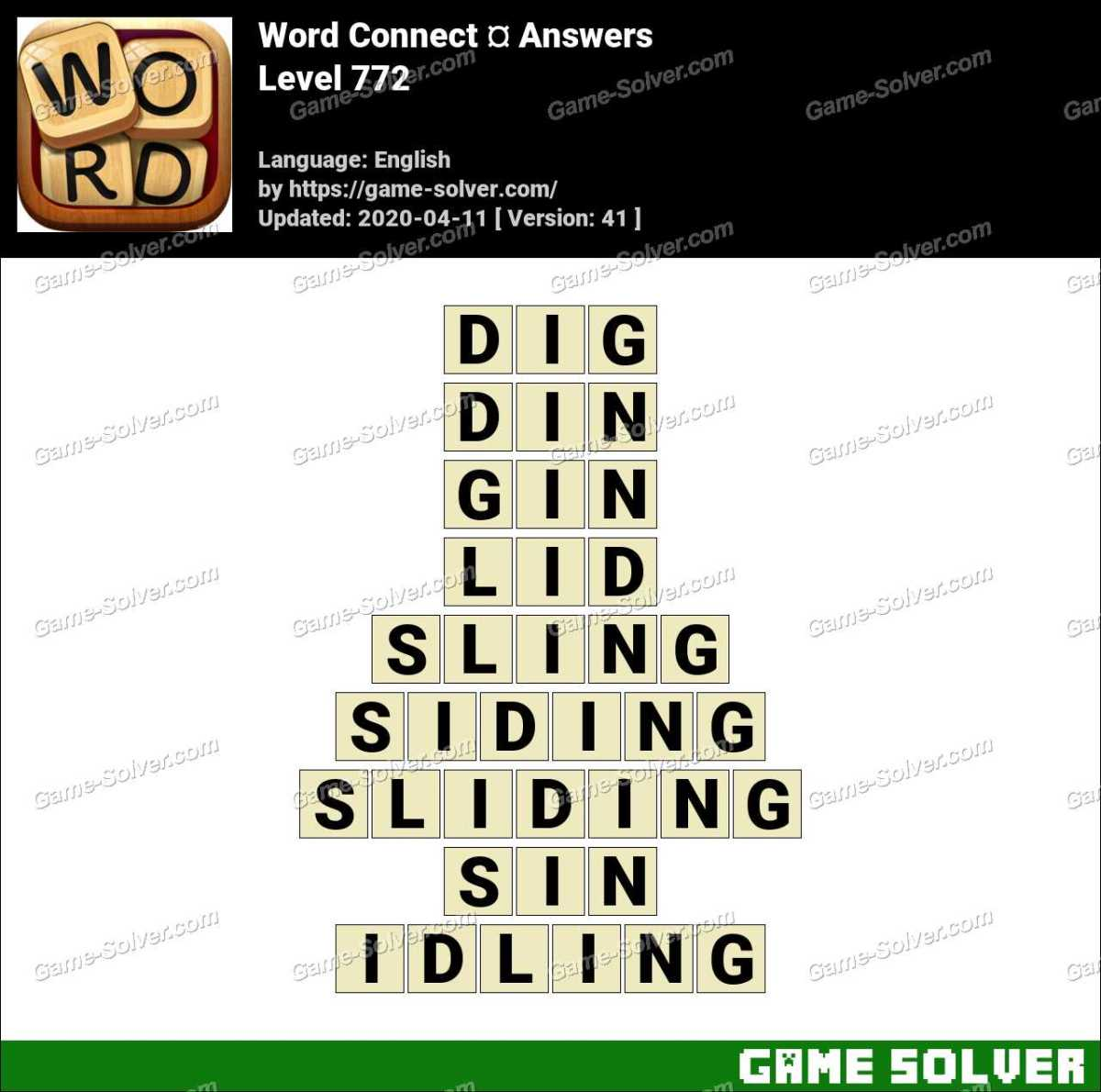 Word Connect Level 772 Answers