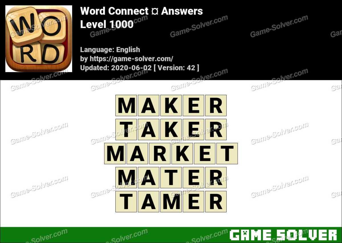 Word Connect Level 1000 Answers