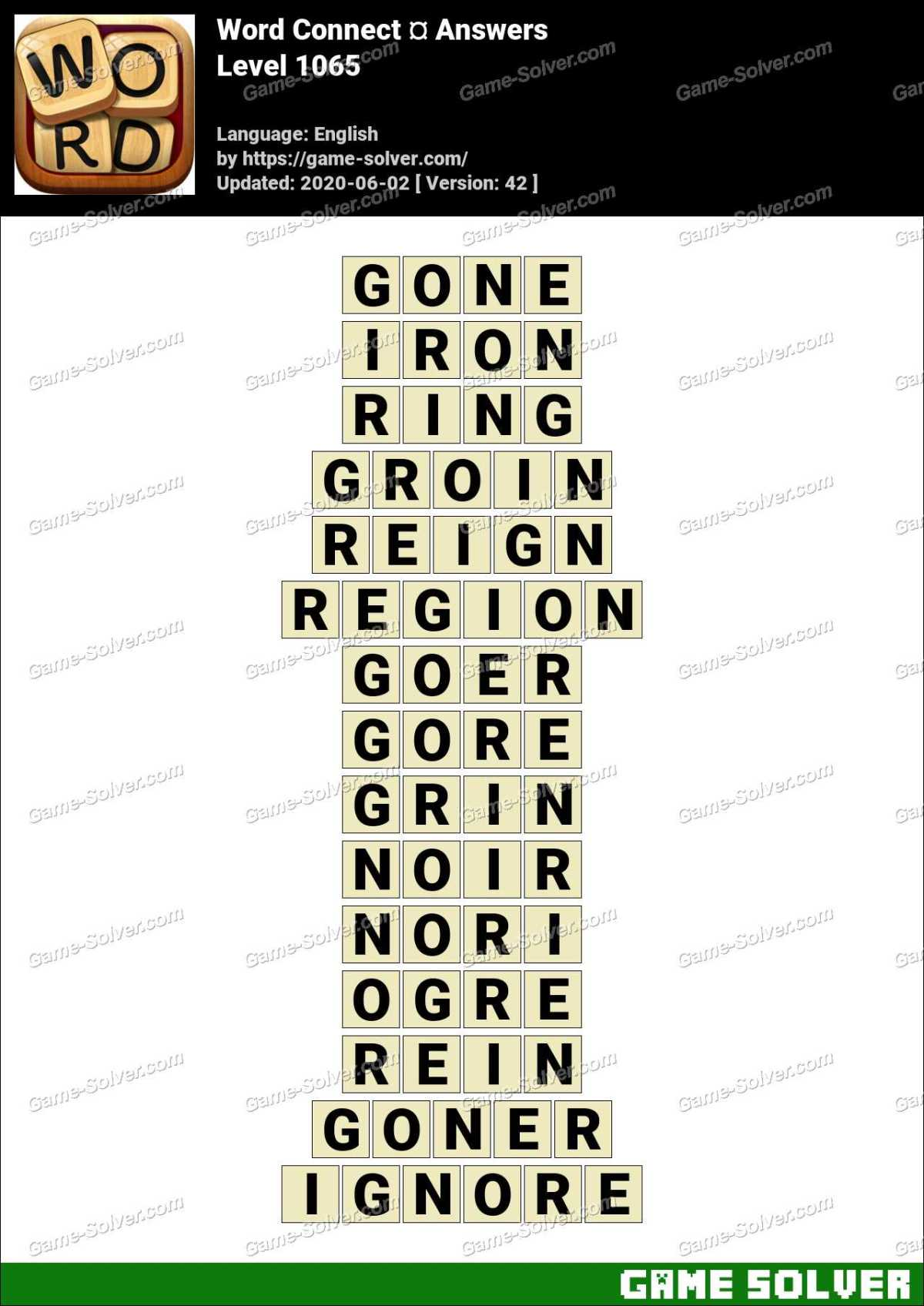 Word Connect Level 1065 Answers