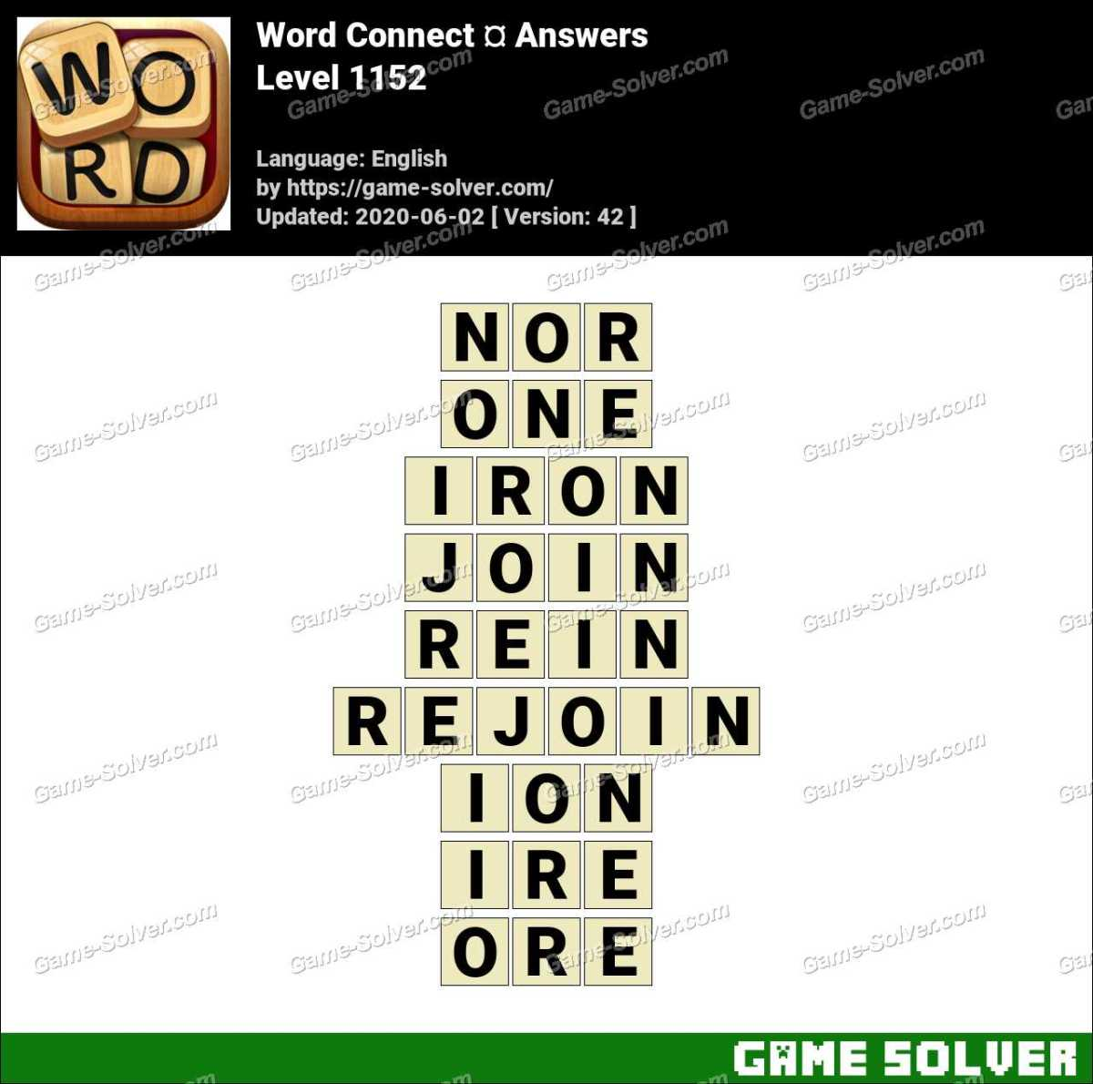 Word Connect Level 1152 Answers