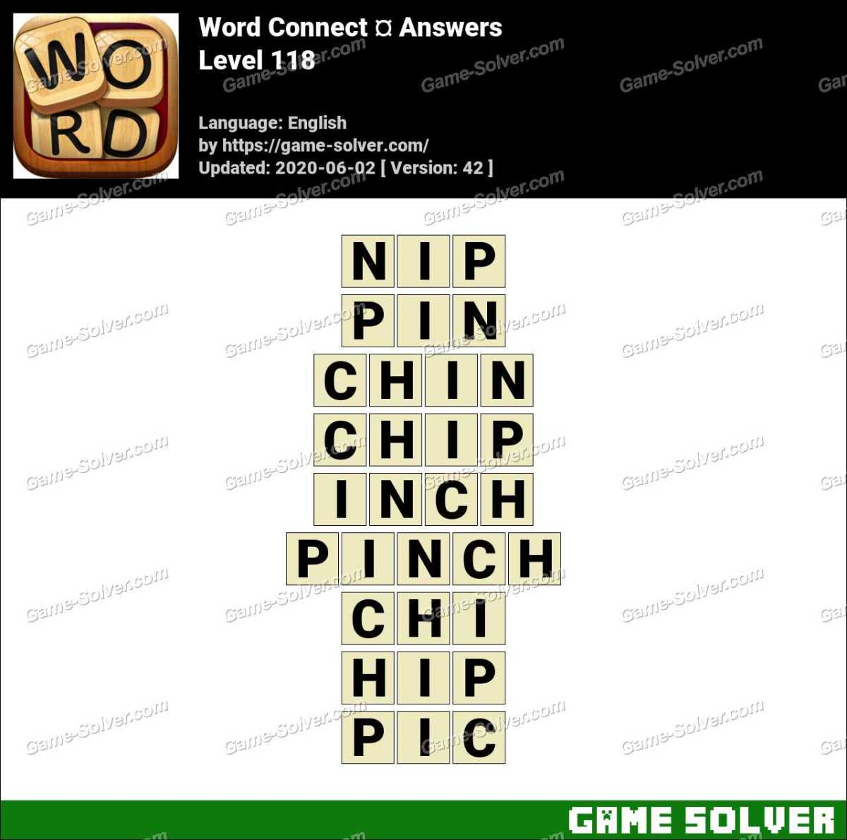 Word Connect Level 118 Answers