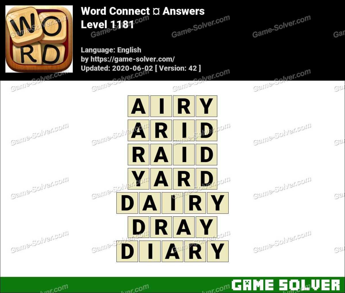 Word Connect Level 1181 Answers