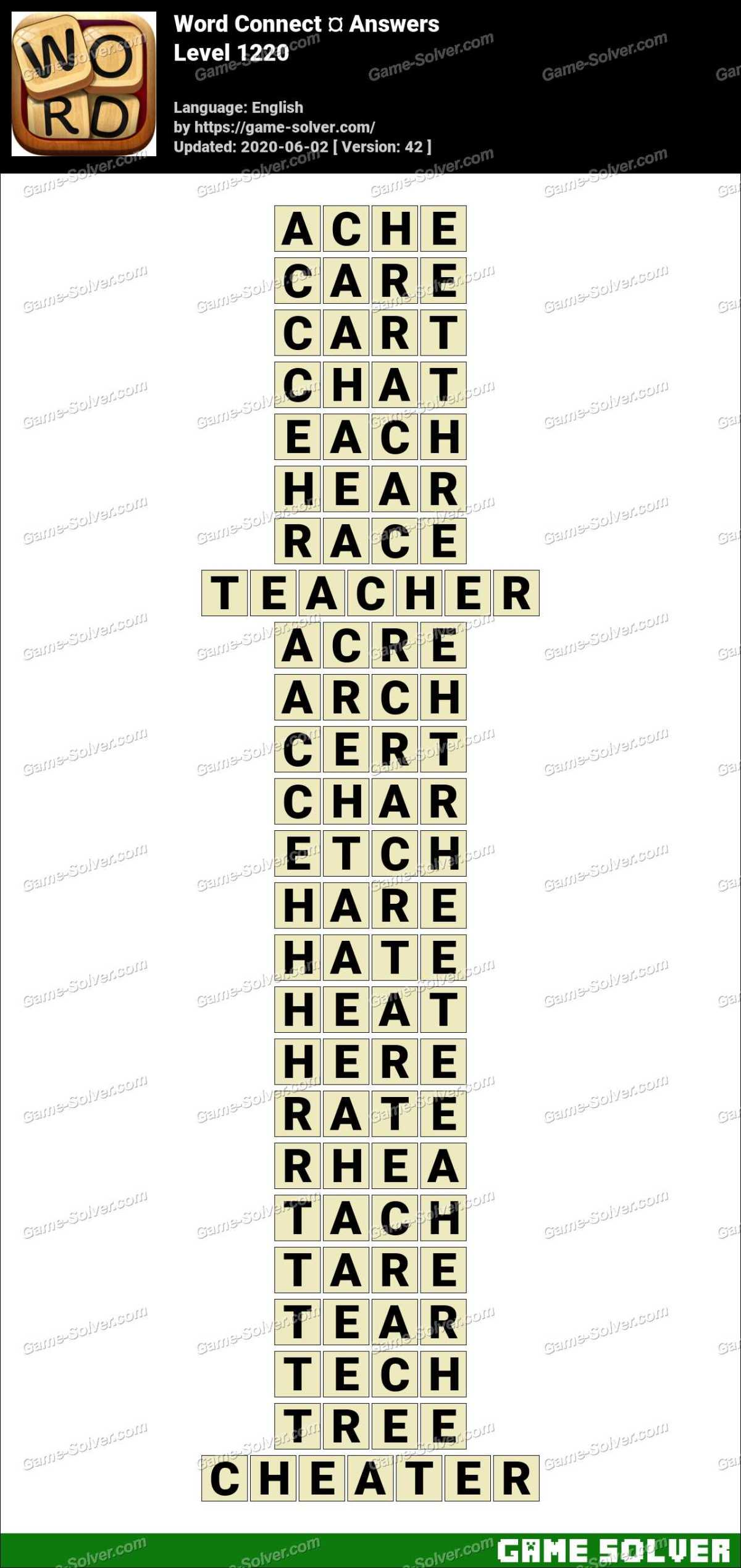Word Connect Level 1220 Answers