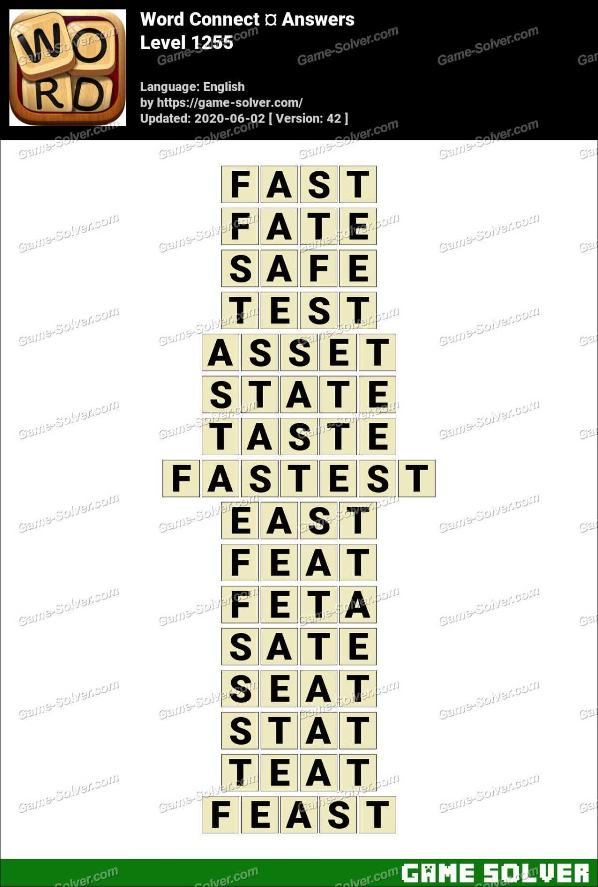Word Connect Level 1255 Answers