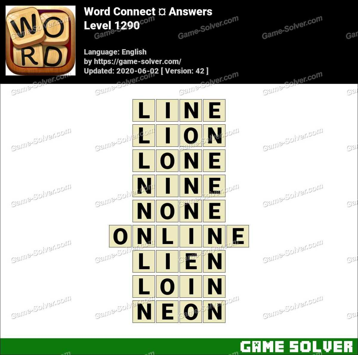 Word Connect Level 1290 Answers