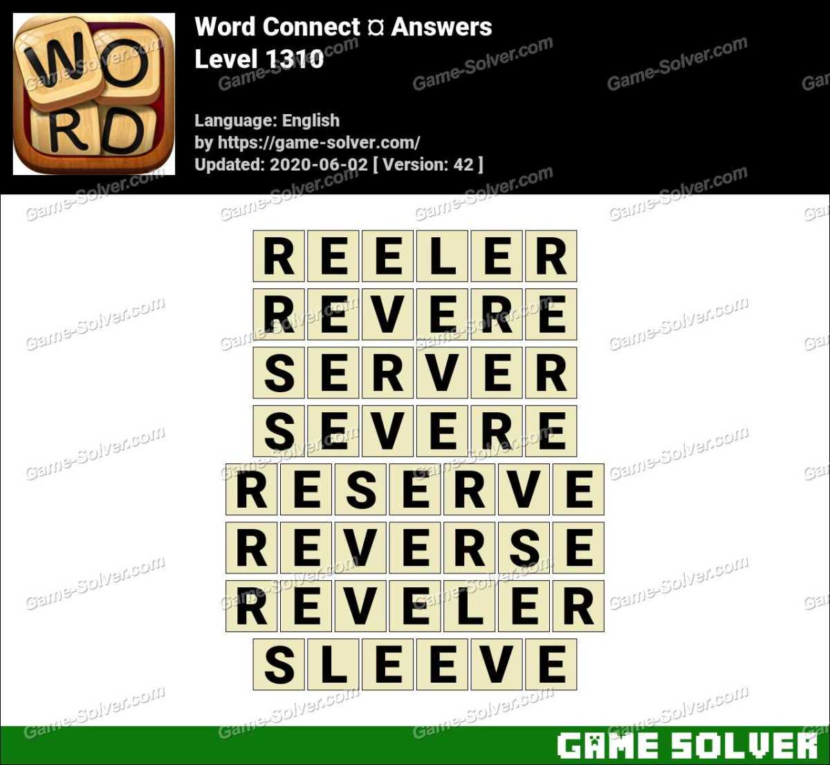 Word Connect Level 1310 Answers