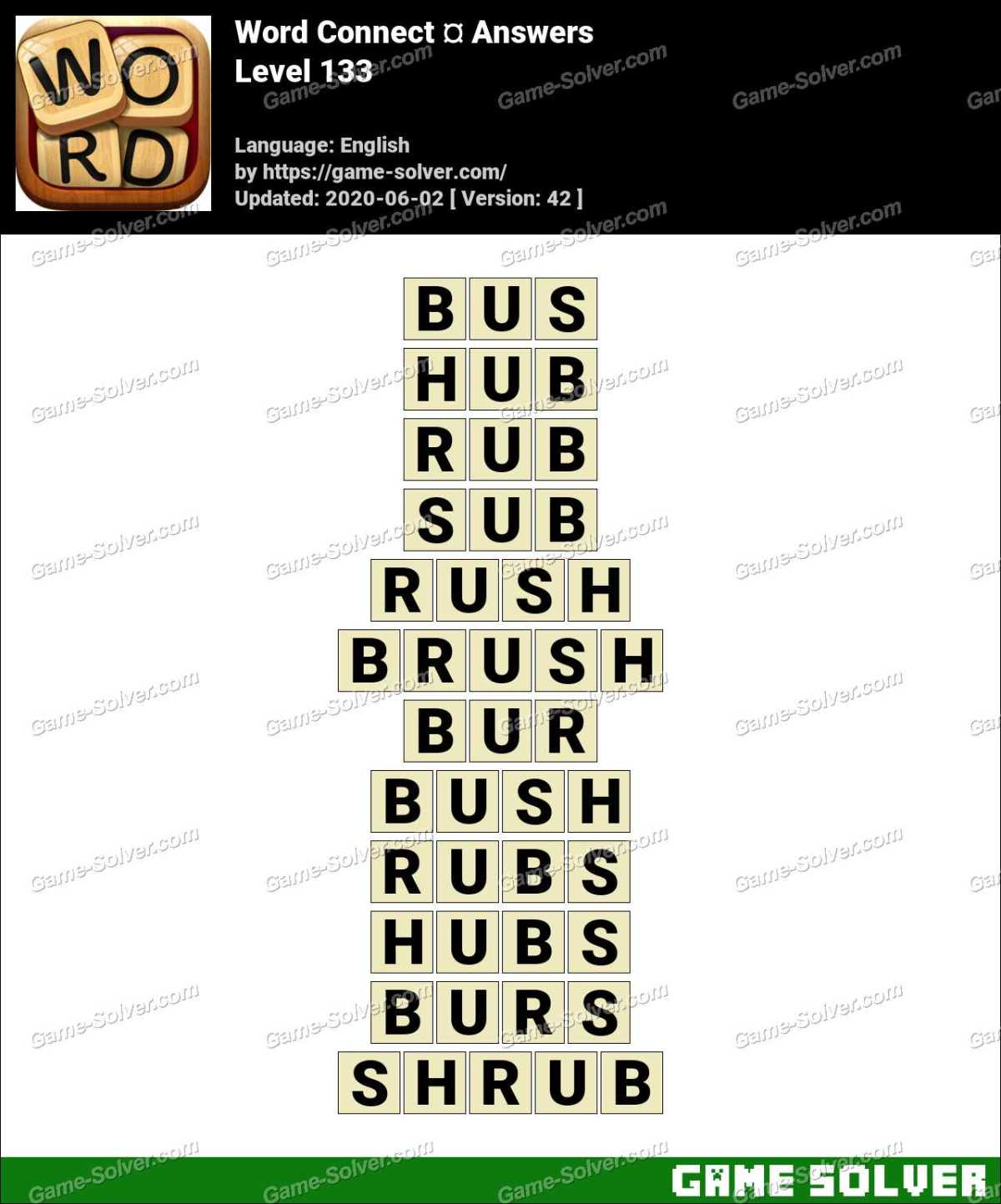 Word Connect Level 133 Answers