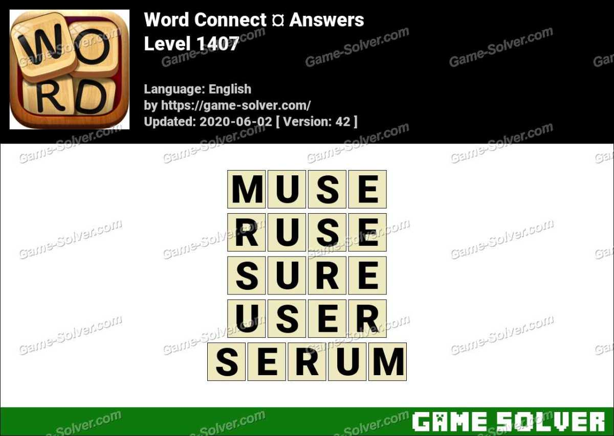 Word Connect Level 1407 Answers