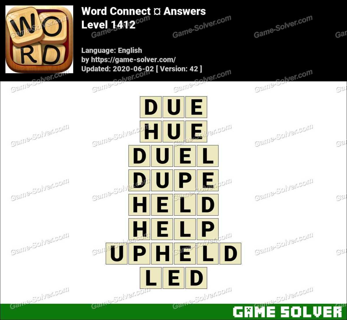 Word Connect Level 1412 Answers