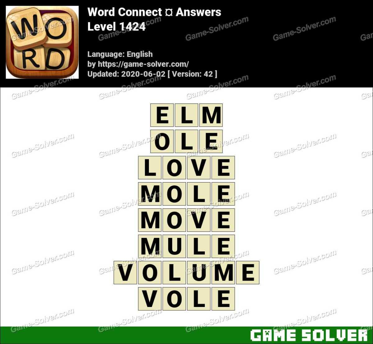 Word Connect Level 1424 Answers