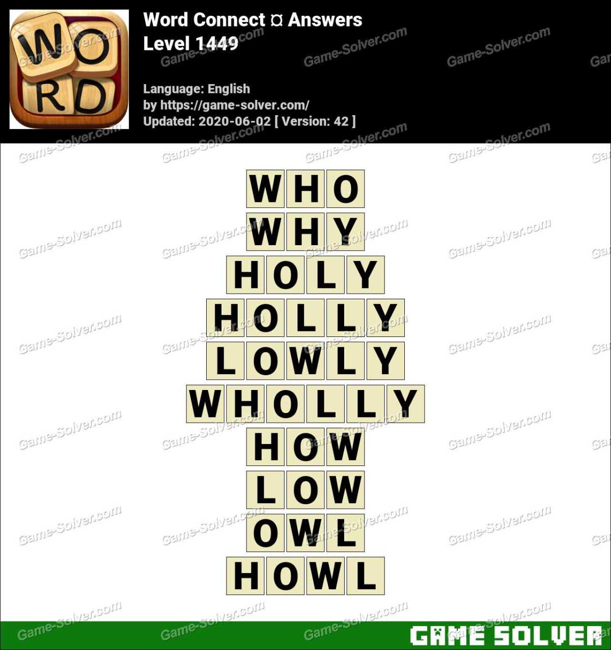 Word Connect Level 1449 Answers