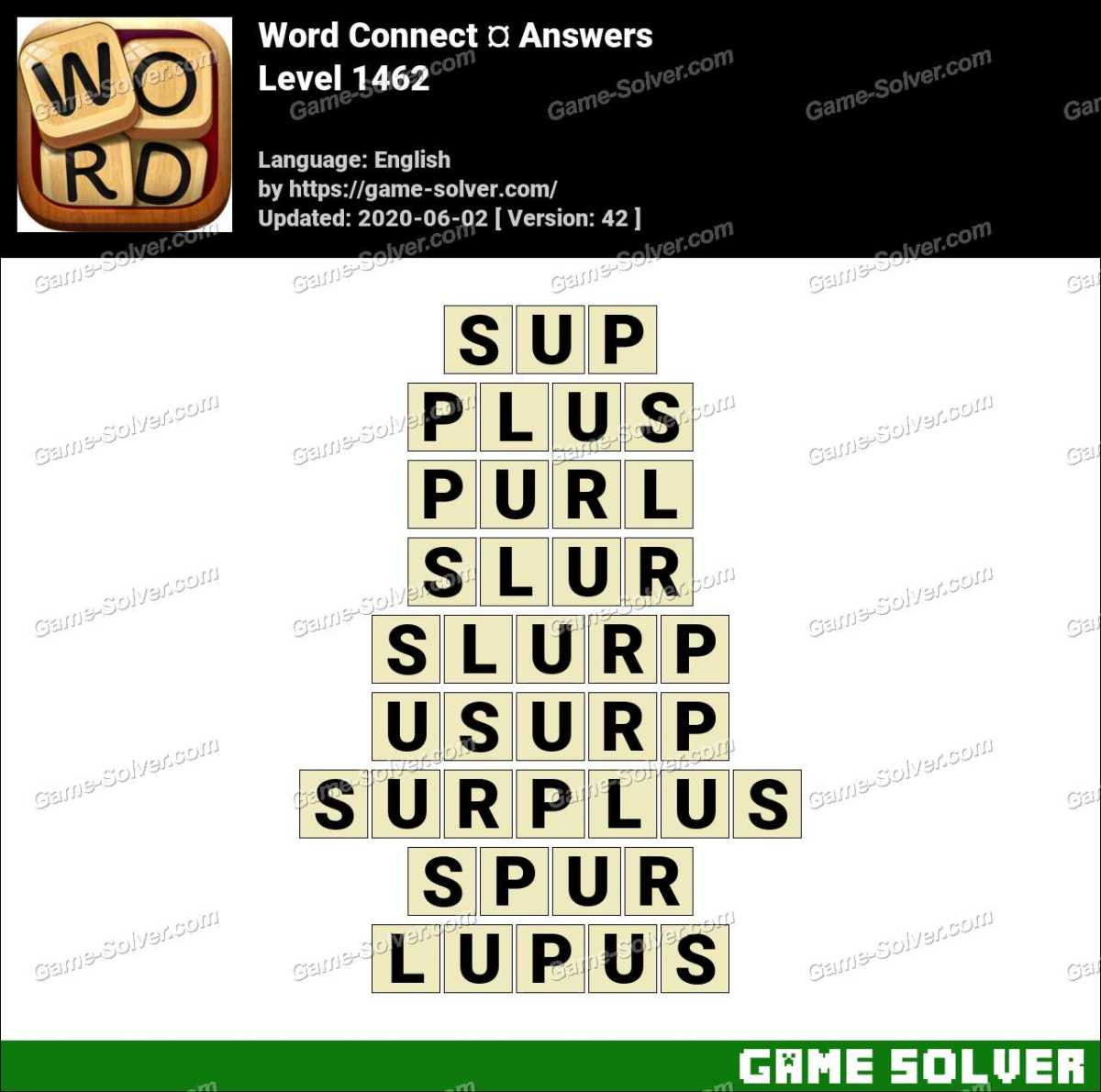 Word Connect Level 1462 Answers