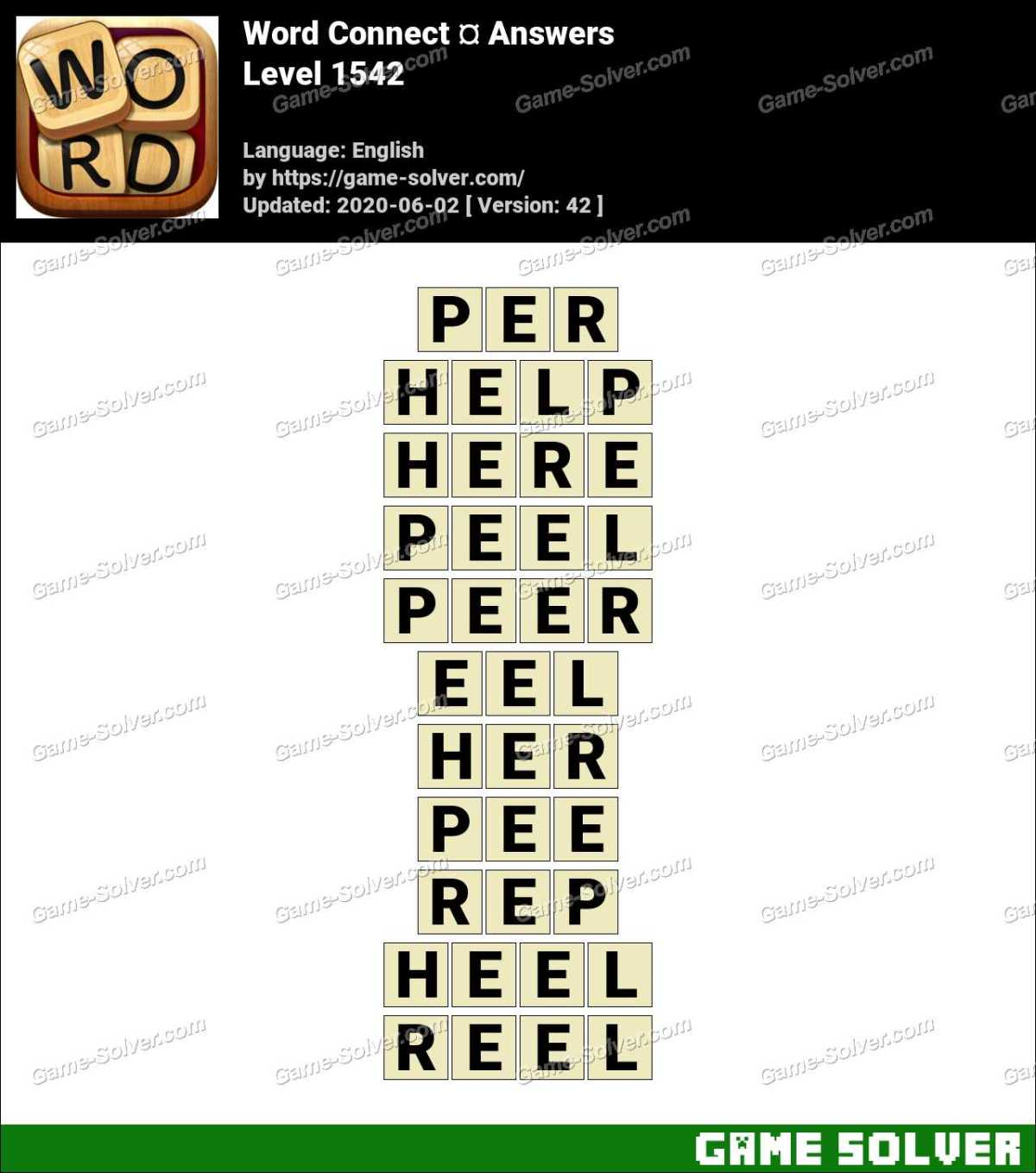 Word Connect Level 1542 Answers
