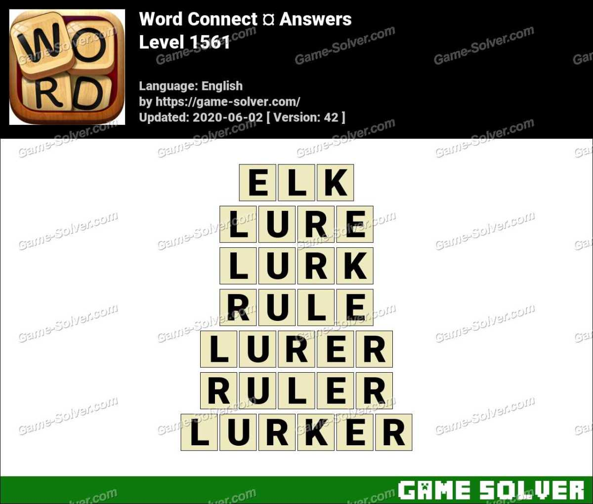 Word Connect Level 1561 Answers