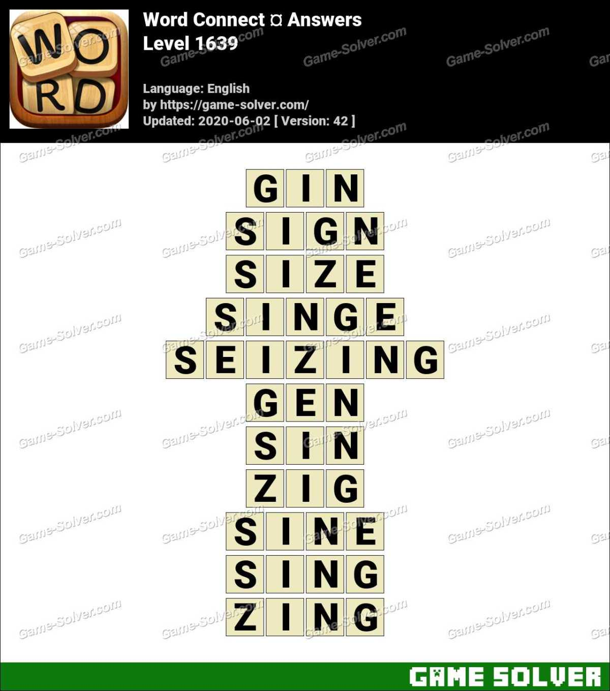 Word Connect Level 1639 Answers