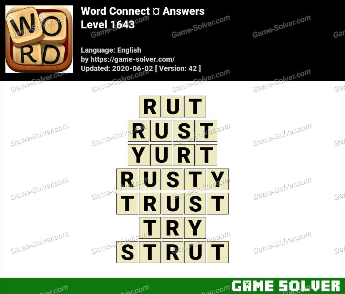Word Connect Level 1643 Answers