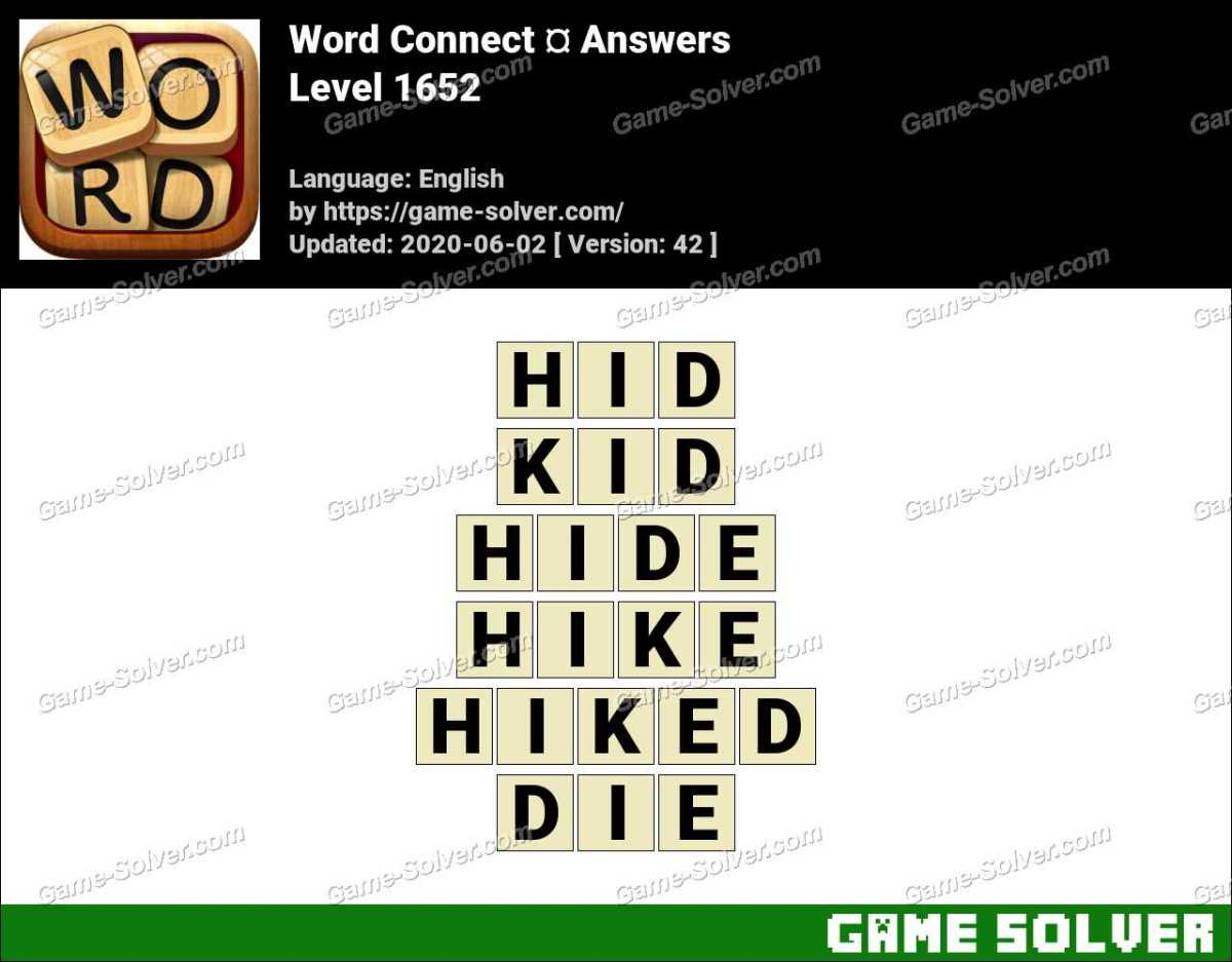 Word Connect Level 1652 Answers