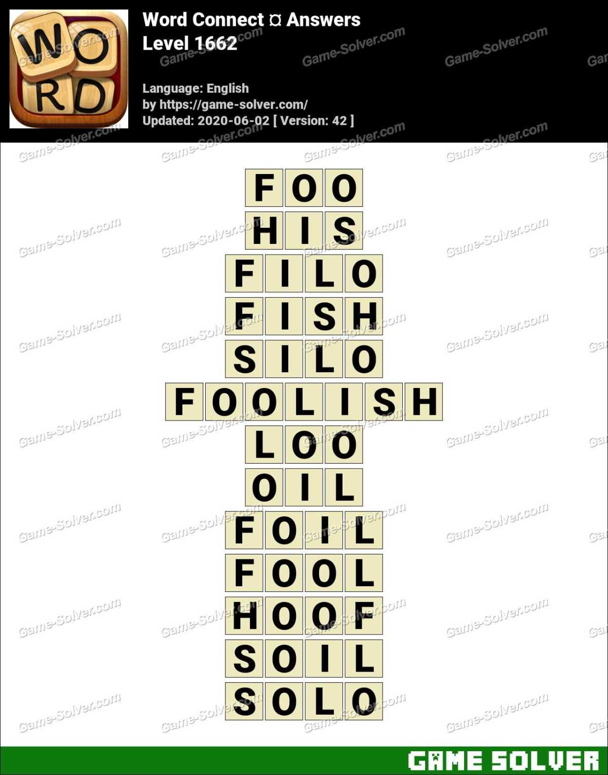 Word Connect Level 1662 Answers